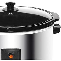 Brentwood SC-170S 8qt Slow Cooker 8 Quart Silver