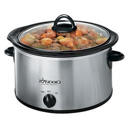 Crock-Pot 3040-BC 4-Quart Round Manual Slow Cooker, Stainles