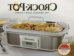 Crock-Pot Programmable Cook & Carry Casserole Crock Slow Coo