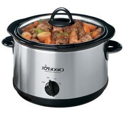 Crock-Pot Regular 5-Quart Round Manual Slow Cooker, Stainles