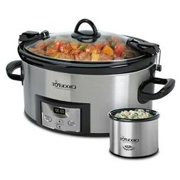 Crock-pot SCCPVL619-S-A 6-Quart Metallic Cooker with Hinged