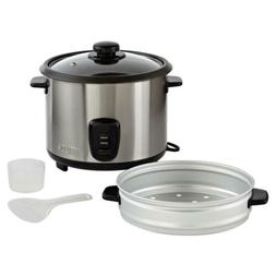IMUSA USA GAU-00023 Electric Rice Cooker with Steam Tray 10-