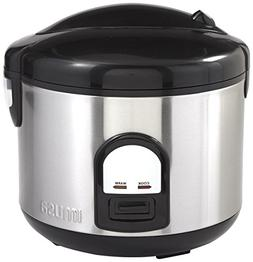 IMUSA USA GAU-00025 10 Cup Deluxe Rice Cooker with Steam Tra