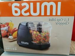 IMUSA USA GAU-80319B Cup Mini Chopper 1.5-Cup, Black