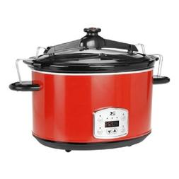 Kalorik 8 Quart Slow Cooker, Digital Programmable Oval Cook