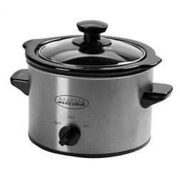 Kitchen Selectives SC-152 Slow Cooker, 1.5 quart, Stainless