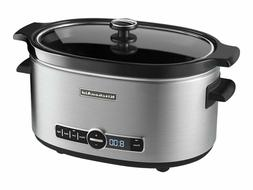 KitchenAid 6-Qt. Slow Cooker with Standard Lid - Stainless S
