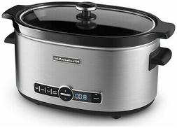 KitchenAid Slow Cooker 6-Quart with Glass Lid | Stainless St