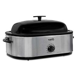 Oster CKSTRS18 24LB Turkey Roaster Oven with High Dome 18-Qu