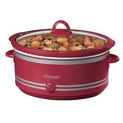 Red 7Qt Crock Pot Slow Cooker with Travel Bag