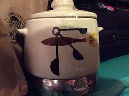 Vintage West Bend Round Lazy Day Bean Pot Space Age Slow Coo