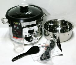 All-Clad 4Qt Electric Rice And Grain Multi Cooker  Stainless