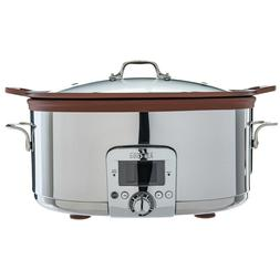 All-Clad 7 Quart Gourmet Slow Cooker With All-in-One Brownin
