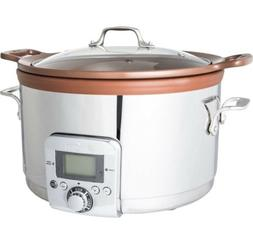 All-Clad Gourmet 5 Quart Slow Cooker with All-in-One Brownin