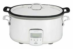 All-Clad SD700350 Slow Cooker, 7 Quart, Silver Cast Aluminum