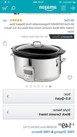 All-Clad SD700450 Programmable Oval-Shaped Slow Cooker with