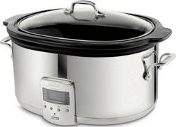 All-Clad SD700450 Programmable Silver Slow Cooker with Black