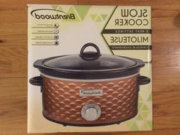 Brentwood Appliances Copper Slow Cooker 4.5 Quart Removable