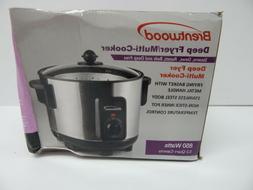 Brentwood Appliances DF-705 5 quart Slow Cooker White BOX DA