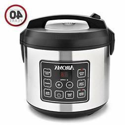Aroma 20-Cup Programmable Rice Cooker, Slow Cooker and Food