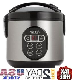 Aroma Digital Rice Cooker and Food Steamer, 4-Cup Uncooked,
