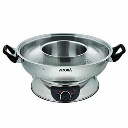 Aroma Housewares ASP-600 Stainless Steel Hot Pot Silver