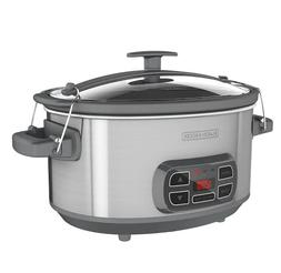 Black & Decker 7 Quart Digital Control Slow Cooker,Stainless