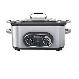 Black & Decker Multi Cooker, 6.5 Quart, Stainless Steel