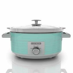Black & Decker Slow Cooker 7 Quart Teal Wave - Removable Sto