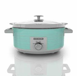 BLACK+DECKER 7 Quart Dial Control Slow Cooker with Built in