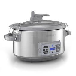 BLACK+DECKER 7-Quart Digital Slow Cooker w Temperature Probe