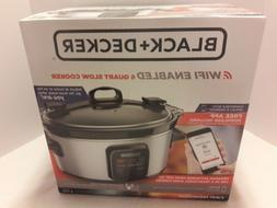 BLACK+DECKER WiFi Enabled 6-Quart slow cooker. Free app down