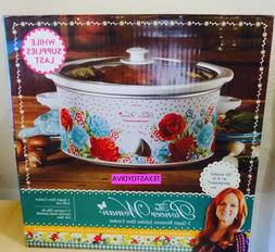 Pioneer Woman *BLOSSOM JUBILEE* 5 Quart Slow Cooker Crock Po