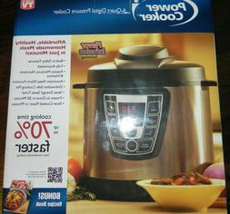 BRAND NEW Power Cooker PC-WAL1 Pro 6-Quart Digital Pressure