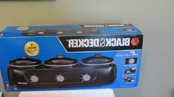 BRAND NEW SEALED BOX  Black & Decker 3 Pot - Crock Pot Slow