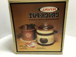Brand New - Vintage Rival Crock-Pot Stoneware Slow Cooker Al