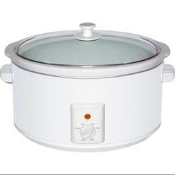 Brentwood Appliances SC-165W 8.0 Quart Slow Cooker White Bod