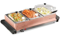Homecraft BSC15 Triple Buffet Server & Warming Tray, 1.5 Qua
