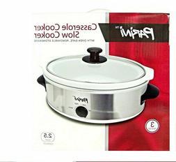 Parini Casserole Cooker ~ Slow Cooker ~ Oven Safe Removable