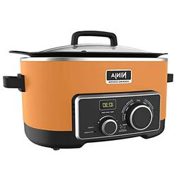 Ninja 6 Quart 3 In 1 Orange Multi-System Slow Cooker