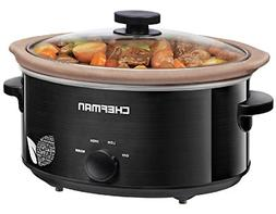 Chefman Slow Cooker, All Natural XL 7 Qt. Pot, Glaze-Free, C