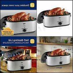 Oster CKSTRS23-SB Roaster Oven, 22-Qt, Stainless Steel 22 Qt