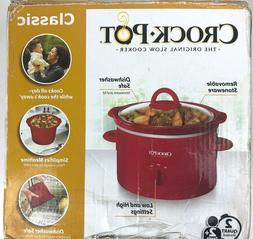 Crock Pot Classic 2-Qt Slow Cooker RED, removable stoneware