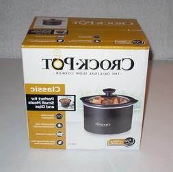 Classic Crock Pot - Slow Cooker, 1.5 Quart Removable Stonewa
