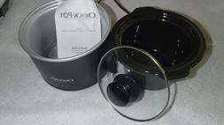 CLASSIC MINI 1.5 QT ORIGINAL CROCK POT BLACK SLOW COOKER ~ S