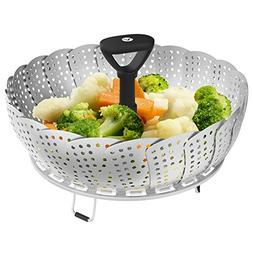 Vremi Collapsible Vegetable Steamer Basket for Large and Sma