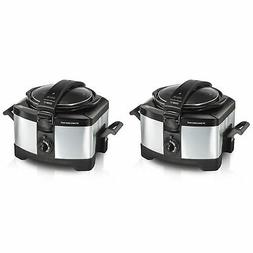 Set Of 2 Hamilton Beach Connectables Slow Cookers