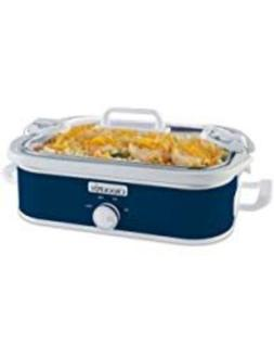 Cook And Carry Locking Lid System Casserole Crock 3.5-Quart