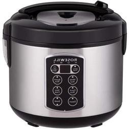 Rosewill 12-Cup Cooked 6-Cup Uncooked Digital Rice Cooker an