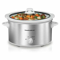 Counter-top Slow Cooker Oval Shape Kitchen Crockpot Hamilton
